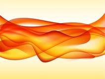 Fundo abstrato da chama do fumo Ilustração do Vetor