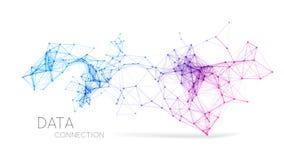 Fundo abstrato da conexão de rede ilustração royalty free