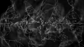 Fundo abstrato da conexão de rede Conceito da tecnologia e da conectividade Molécula e fundo de uma comunicação ilustração stock
