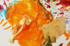 Fundo abstrato da cor Pintura acrílica com sparkles Borrões coloridos Textura de mármore fotos de stock royalty free