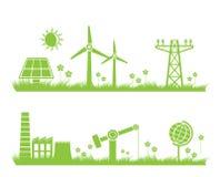 Fundo abstrato da ecologia, da indústria e da natureza Foto de Stock Royalty Free