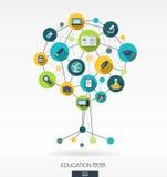 Fundo abstrato da educação Conceito da árvore do crescimento ilustração royalty free