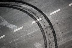 Fundo abstrato da estrada Fotografia de Stock Royalty Free