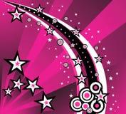 Fundo abstrato da estrela ilustração royalty free