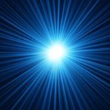 Fundo abstrato da explosão da estrela azul Fotografia de Stock Royalty Free