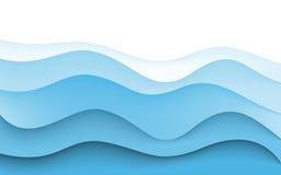 Fundo abstrato da faculdade criadora do projeto de ondas azuis Vetor Imagem de Stock