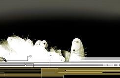 Fundo abstrato da ficção científica Imagens de Stock