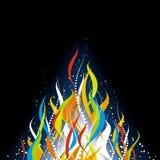Fundo abstrato da flama ilustração royalty free