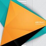 Fundo abstrato da forma do triângulo ilustração stock