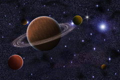 Fundo abstrato da galáxia de Saturno Fotografia de Stock