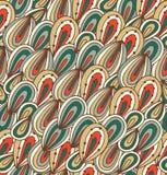 Fundo abstrato da garatuja Teste padrão brilhante sem emenda Textura tirada psicadélico Imagem de Stock Royalty Free