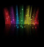 Fundo abstrato da ideia do conceito do equalizador do volume da música ilustração do vetor