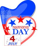 Fundo abstrato da independência dos EUA Foto de Stock