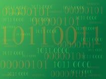 Fundo abstrato da informação com código binário Tecnologia verde Foto de Stock Royalty Free