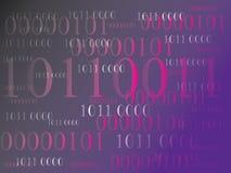 Fundo abstrato da informação com código binário Tecnologia verde Fotografia de Stock
