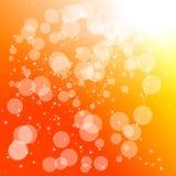 Fundo abstrato da laranja do círculo Imagens de Stock