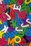 Fundo abstrato da letra do colorfull Foto de Stock