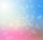 Fundo abstrato da luz da cor do borrão Efeito de Bokeh Ilustração Stock