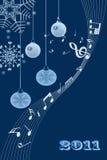 Fundo abstrato da luz de Natal ilustração royalty free