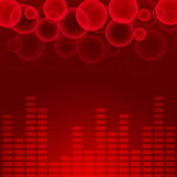 Fundo abstrato da música Imagem de Stock