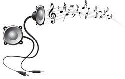 Fundo abstrato da música Foto de Stock