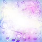 Fundo abstrato da música Imagem de Stock Royalty Free