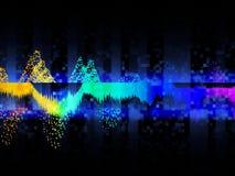 Fundo abstrato da música da cor Equalizador que mostra a onda sadia Conceito do fundo da tecnologia e da ci?ncia ilustração stock