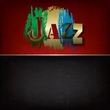 Fundo abstrato da música de jazz ilustração do vetor