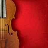 Fundo abstrato da música do grunge com violino Fotos de Stock Royalty Free