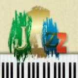 Fundo abstrato da música jazz ilustração do vetor