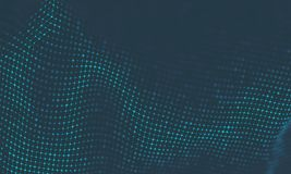 Fundo abstrato da música Visualisation de fluxo grande da partícula dos dados Ilustração futurista infographic da ciência Som ilustração stock