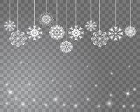Fundo abstrato da neve do vetor para seu projeto de cartão Imagens de Stock Royalty Free