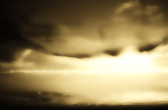 Fundo abstrato da nuvem do sepia Foto de Stock Royalty Free