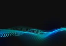 Fundo abstrato da onda com pontos e linhas de conexão Imagens de Stock Royalty Free