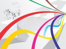 Fundo abstrato da onda do arco-íris com grunge Imagem de Stock
