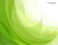 Fundo abstrato da onda verde Fotografia de Stock