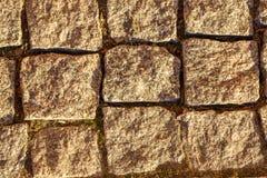 Fundo abstrato da opinião velha do passeio da pedra de cima de pavimentar fotografia de stock