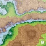 Fundo abstrato da paisagem mosaic Fotos de Stock