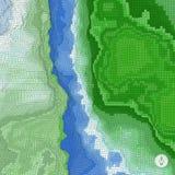 Fundo abstrato da paisagem mosaic Imagens de Stock Royalty Free