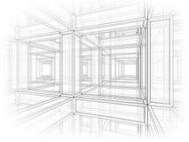 Fundo abstrato da perspectiva da arquitetura Imagens de Stock