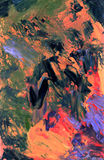 Fundo abstrato da pintura a óleo Imagem de Stock