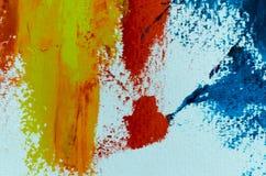 Fundo abstrato da pintura a óleo Óleo na textura da lona Mão tirada fotografia de stock royalty free