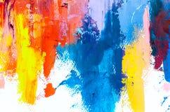 Fundo abstrato da pintura a óleo Óleo na textura da lona Mão tirada fotos de stock royalty free