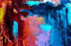 Fundo abstrato da pintura a óleo Óleo na textura da lona Mão tirada fotos de stock