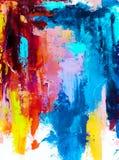 Fundo abstrato da pintura a óleo Óleo na textura da lona Mão tirada fotografia de stock