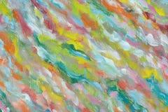 Fundo abstrato da pintura a óleo Uma imagem brilhante pintada por uma pessoa criativa Admirando a obra-prima da arte Fragmento da ilustração stock