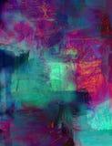 Fundo abstrato da pintura acrílica ilustração stock