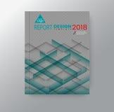 Fundo abstrato da sombra da forma da listra do triângulo para o cartaz do inseto do folheto da capa do livro do informe anual do  ilustração stock