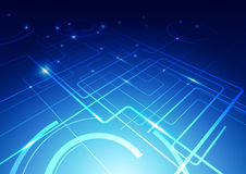 Fundo abstrato da tecnologia Imagens de Stock