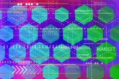 Fundo abstrato da tecnologia com formas geométricas Fotos de Stock Royalty Free